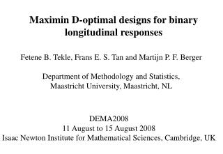 Maximin D-optimal designs for binary longitudinal responses