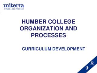 HUMBER COLLEGE ORGANIZATION AND PROCESSES