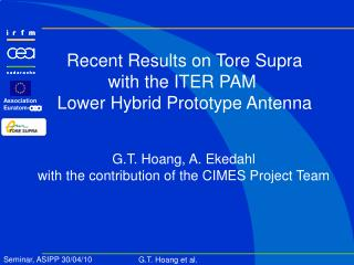 Recent Results on Tore Supra with the ITER PAM  Lower Hybrid Prototype Antenna
