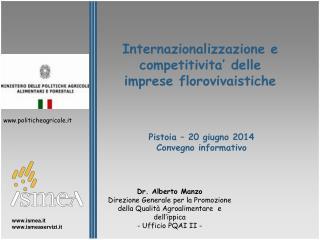 Internazionalizzazione e competitivita' delle imprese florovivaistiche