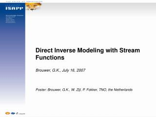 Direct Inverse Modeling with Stream Functions Brouwer, G.K., July 16, 2007