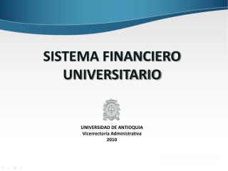 SISTEMA FINANCIERO UNIVERSITARIO