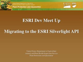 ESRI Dev Meet Up Migrating to the ESRI Silverlight API