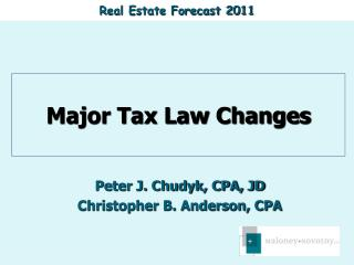 Major Tax Law Changes