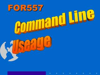 Command Line Useage