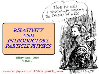 Relativity and Introductory Particle Physics