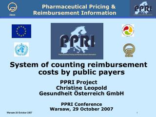 System of counting reimbursement costs by public payers