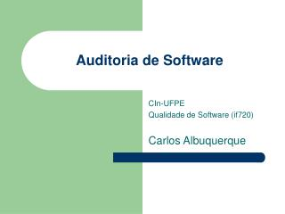 Auditoria de Software