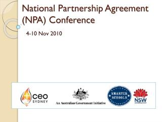 National Partnership Agreement (NPA) Conference