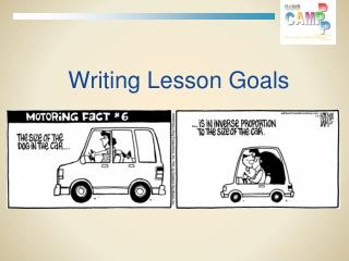 Writing Lesson Goals