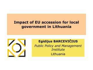 Impact of EU accession for local government in Lithuania