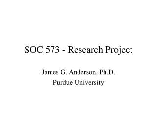 SOC 573 - Research Project