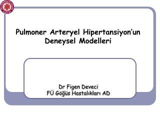 Pulmoner Arteryel Hipertansiyon'un Deneysel Modelleri