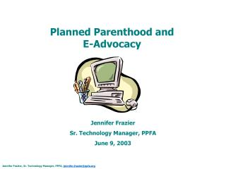 Planned Parenthood and  E-Advocacy