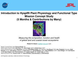 Introduction to HyspIRI Plant Physiology and Functional Type Mission Concept Study