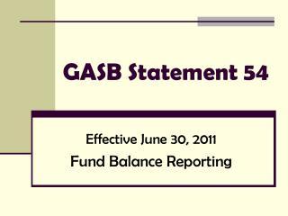 GASB Statement 54