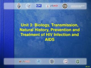 Unit 3: Biology, Transmission, Natural History, Prevention and Treatment of HIV Infection and AIDS