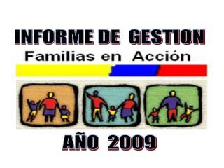 INFORME DE  GESTION AÑO  2009