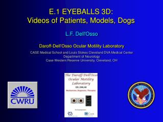 E.1 EYEBALLS 3D: Videos of Patients, Models, Dogs