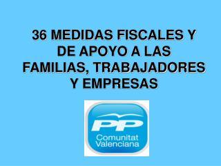 36 MEDIDAS FISCALES Y DE APOYO A LAS FAMILIAS, TRABAJADORES Y EMPRESAS
