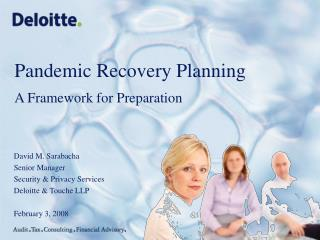 Pandemic Recovery Planning A Framework for Preparation