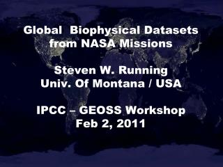 CEOS ECV (Essential Climate Variables) from GCOS � 138, Aug 2010