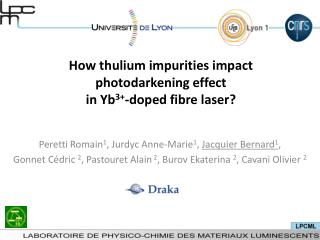How thulium impurities impact photodarkening effect  in Yb 3+ -doped fibre laser?