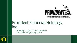 Provident Financial Holdings, Inc.