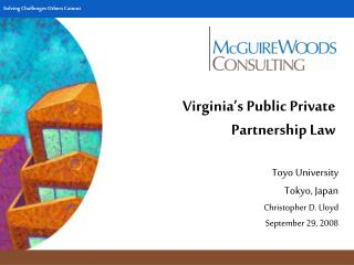 Virginia's Public Private Partnership Law