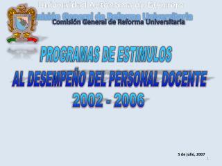 Comisi�n General de Reforma Universitaria