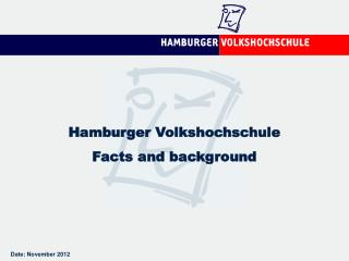 Hamburger Volkshochschule Facts and background