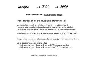 Internacia komunikado � Informoj