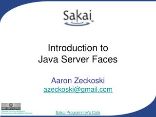 Introduction to  Java Server Faces