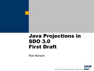 Java Projections in SDO 3.0 First Draft