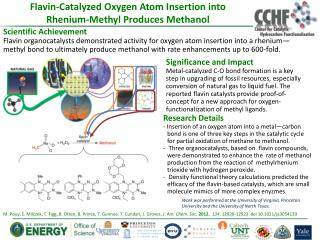 Flavin-Catalyzed Oxygen Atom Insertion into Rhenium-Methyl Produces Methanol
