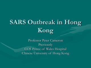 SARS Outbreak in Hong Kong