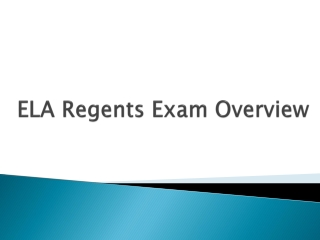 Passing the Regents  Reading Exam