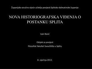 Županijsko stručno vijeće učitelja povijesti Splitsko-dalmatinske županije