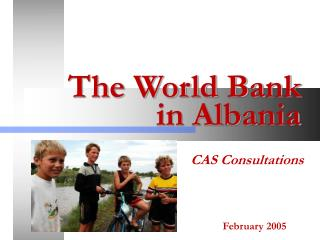 Presentation of World Bank Activity in Albania