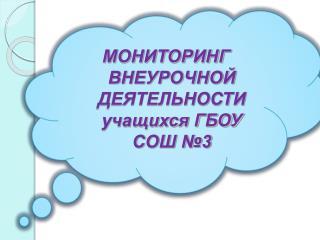 МОНИТОРИНГ ВНЕУРОЧНОЙ  ДЕЯТЕЛЬНОСТИ учащихся ГБОУ СОШ №3