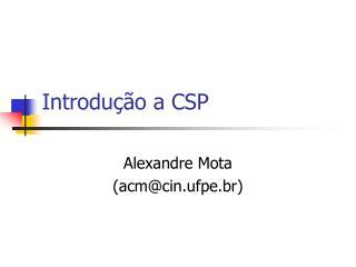 Introdução a CSP