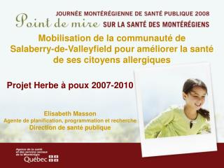 Projet Herbe � poux 2007-2010