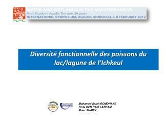 Diversité fonctionnelle des poissons  du lac/lagune de  l'Ichkeul