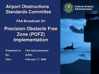 Airport Obstructions Standards Committee