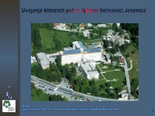 Avtorji: Zdenka Kramar, dipl.m.s.,Helena Lindič,dipl.m.s.,prim.mag.Miran Rems drd.,