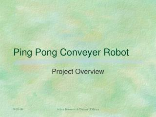 Ping Pong Conveyer Robot