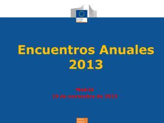 Encuentros Anuales 2013