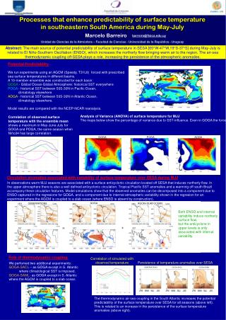 Unidad de Ciencias de la Atmósfera – Facultad de Ciencias - Universidad de la República - Uruguay