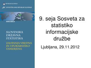 9. seja Sosveta za statistiko informacijske družbe