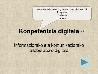 Konpetentzia digitala